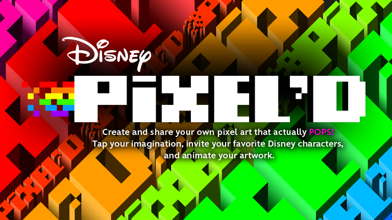 Disney PIXEL'D. Create and share your own pixel art that actually POPS! Tap your imagination, invite your favorite Disney Characters, and animate your artwork.
