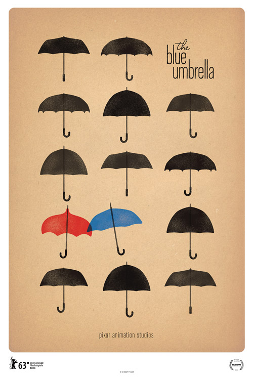 Blue Umbrella Poster Pixar