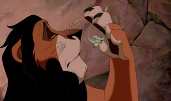 Scar and Mouse from The Lion King