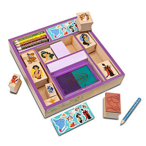 aladdin stamp set disney store