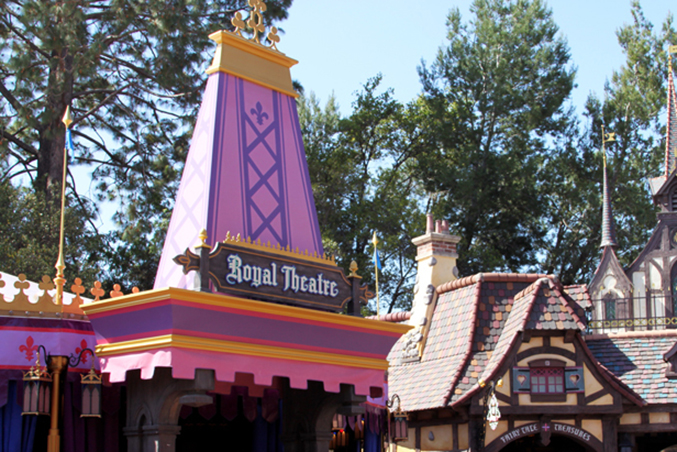 disney princess royal theatre at fantasy faire