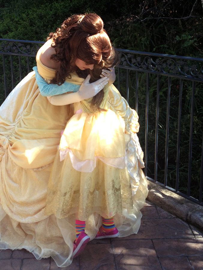 disney princess belle at fantasy faire