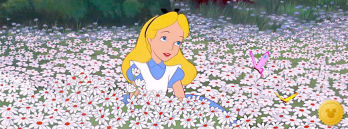 Alice Among the Flowers