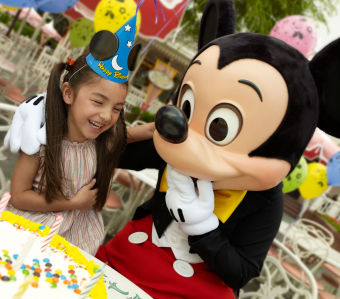 Mickey and birthday girl