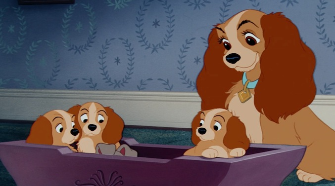 Disney Mom- Lady and her pups