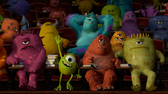 Pixar film, Mike Wazowski and Sulley in Monsters University